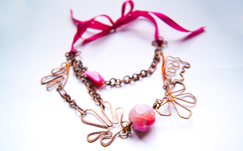 Floral Pink Necklace