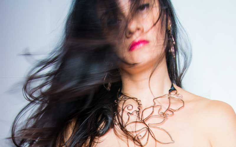 Copper Necklace Model Yavie