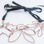 Hammered copper necklace - Andune Model