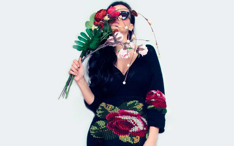 Roses Knit Dress